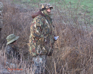 Hand warmers and good boots were needed for hiding in the ditch